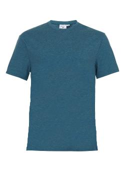 Topman - Light Blue Marl Roller Crew Neck T-shirt
