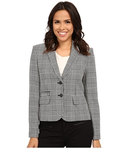 Calvin Klein - Plaid Two Button Jacket