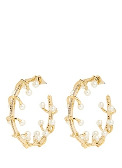 Eddie Borgo - Pearl Orbit Hoop Earrings