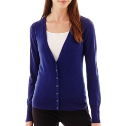 Worthington - Essential Long-Sleeve V-Neck Cardigan