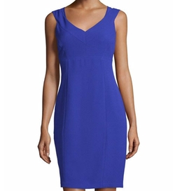 Marc New York By Andrew Marc - Sleeveless V-Neck Sheath Dress