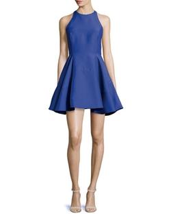 Halston Heritage - Sleeveless Jewel-Neck Party Dress