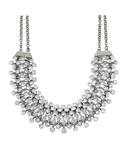 Romwe - Elegant Rhinestone Choker Collar Necklace