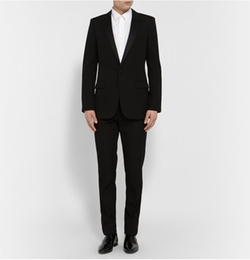 Saint Laurent   - Satin-Trimmed Virgin Wool Tuxedo Suit