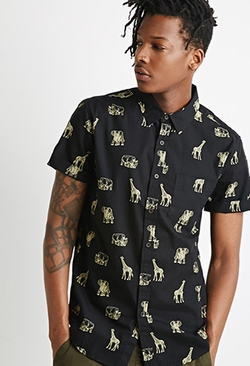 Forever 21 - Safari Animal Print Shirt