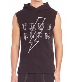 True Religion - Triple Needle Pullover Hoodie