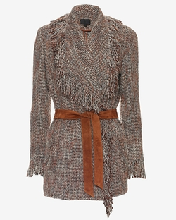 Intermix - Joanna Belted Fringe Jacket
