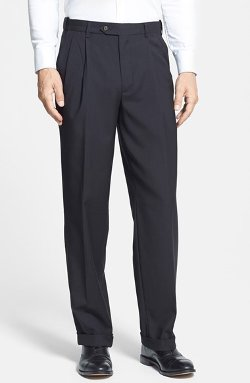 Berle - Self Sizer Waist Pleated Trousers
