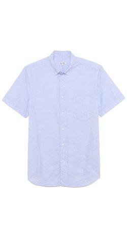 Steven Alan  - Striped Short Sleeve Shirt
