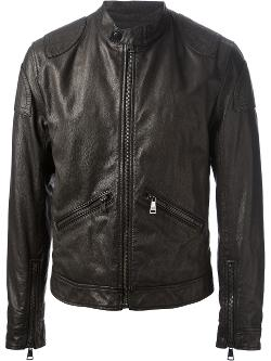 DOLCE & GABBANA  - distressed leather jacket