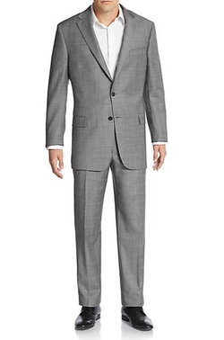 Hickey Freeman - Plaid Worsted Wool Suit