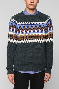 URBAN OUTFITTERS - Hawkings McGill Zigzag Print Sweater
