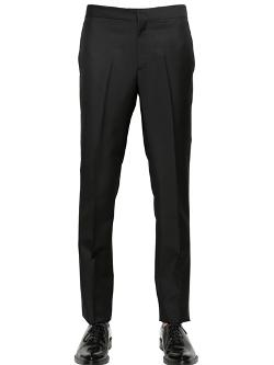 Givenchy  - 19cm Wool & Mohair Slim Fit Trousers