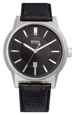 Hugo Boss - Architecture Round Leather Strap Watch
