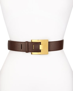 Stella McCartney  - Solid Faux-Leather Belt