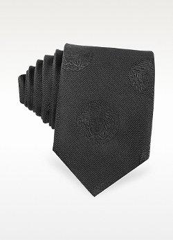 Versace  - Medusa Logo Woven Silk Narrow Tie
