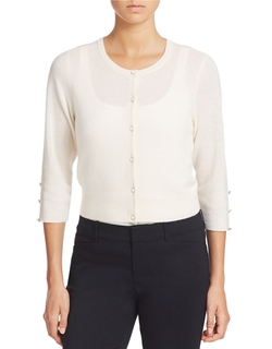 Lord & Taylor  - Cropped Cashmere Cardigan