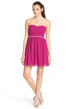A. Drea  - Embellished Strapless Skater Dress