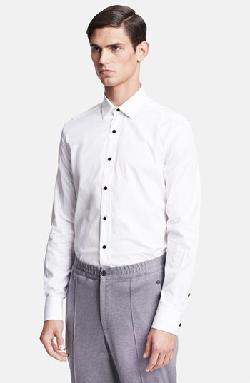 Lanvin - Tuxedo Shirt with Glass Button Details