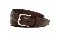 Cole Haan  - Leather Burnished Dome Belt