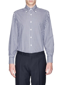 Canali - Gingham Check Cotton Poplin Shirt