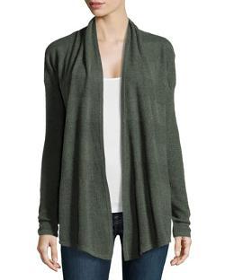 Neiman Marcus  - Cashmere Textured Knit Cardigan