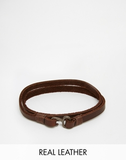 Icon Brand - Leather Wraparound Bracelet