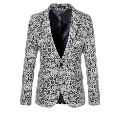 Chicside - Flirting Casual Printed Blazer