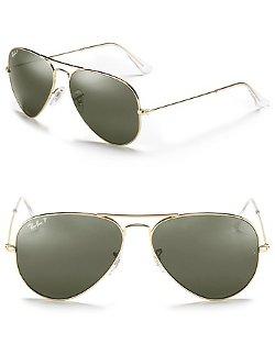 Ray-Ban  - Polarized Classic Aviator Sunglasses