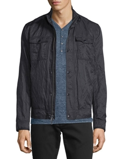 John Varvatos Star USA  - Mixed Media Zip Jacket