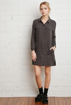 Forever21 - Cotton Utility Shirt Dress