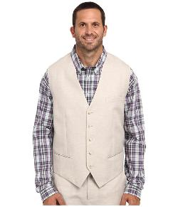 Perry Ellis  - Big and Tall Linen Suit Vest