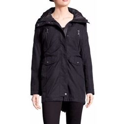 Andrew Marc - Leather Trim Parka Coat