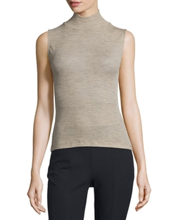 T by Alexander Wang  - Sheer Wool Ribbed Turtleneck Top