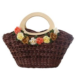 Vonfon - Flowers Hand Straw Bag