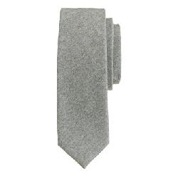 J.CREW - ITALIAN WOOL TIE IN MEDIUM GREY
