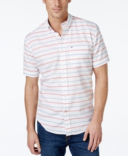 Tommy Hilfiger  - Malcom Horizontal-Stripe Short-Sleeve Shirt