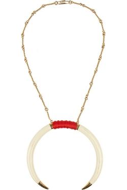Aurélie Bidermann - Caftan Moon Gold-Plated Faux Horn Necklace