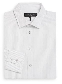 Rag & Bone - Pinstriped Cotton Dress Shirt