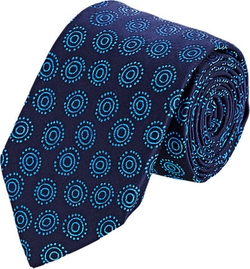 Barneys New York - Circle & Dot Jacquard Necktie