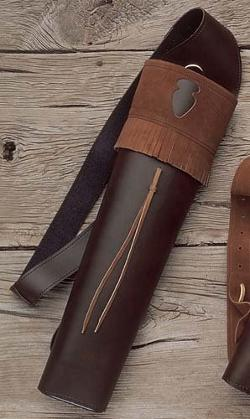 Neet - Archery Traditions Back Quiver Color Brown Leather