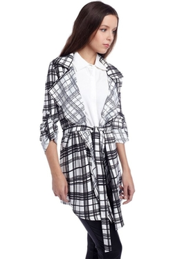Q2 - Checked Print Trench Coat