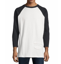 Alexander Wang - Long-Sleeve Baseball T-Shirt
