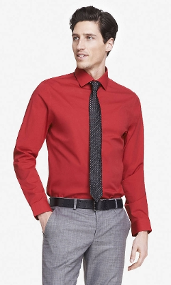 Express - Modern Fit 1mx Spread Collar Shirt