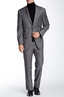 Hickey Freeman - Sharkskin Two Button Wool Suit