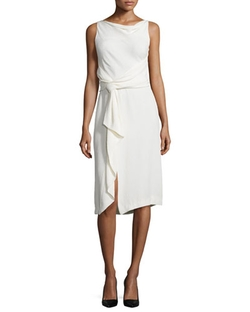 Jason Wu - Sleeveless Sheath Dress W/ Ruffle