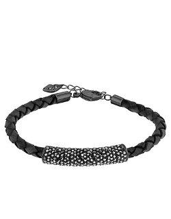 Swarovski  - Crystal and Black Braid Bracelet