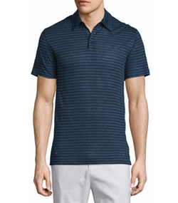 Vince - Feeder-Stripe Short-Sleeve Polo Shirt
