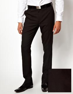 ASOS  - Skinny Fit Suit Pants In Black