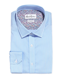 Robert Graham  - Torino Tailored-Fit Stripe Dress Shirt